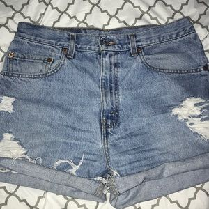 Vintage Distressed High Rise Levi's 505 Cut Offs
